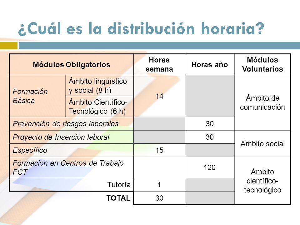 ¿Cuál es la distribución horaria