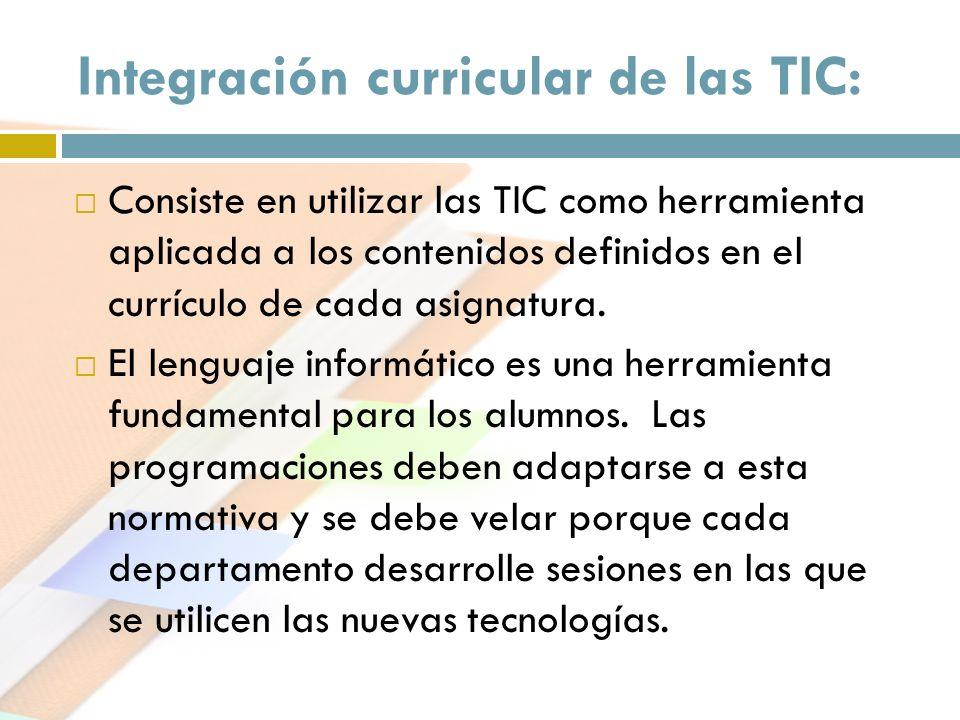 Integración curricular de las TIC: