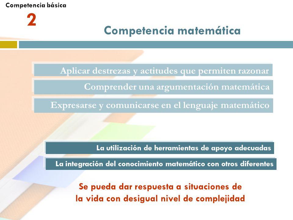 2 Competencia matemática