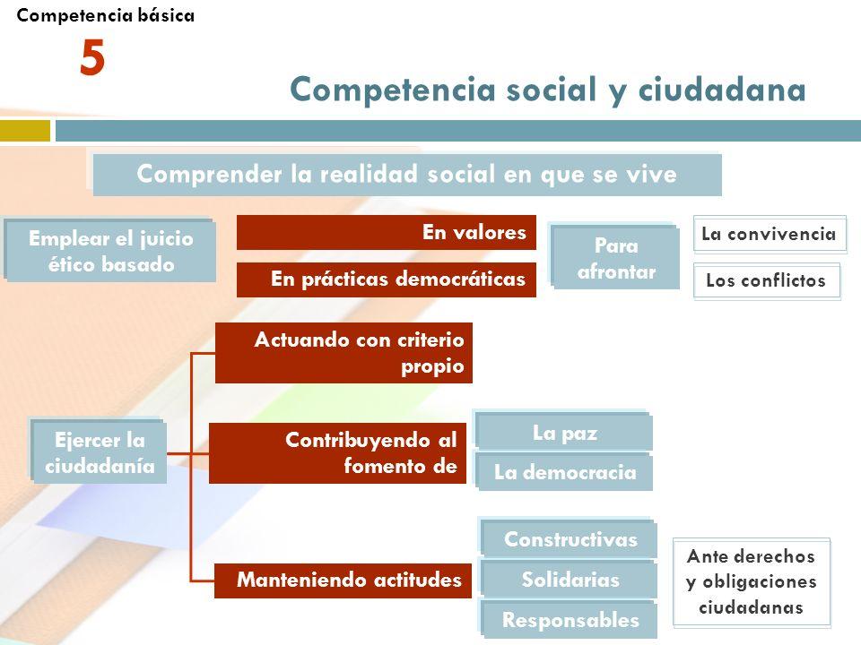 5 Competencia social y ciudadana