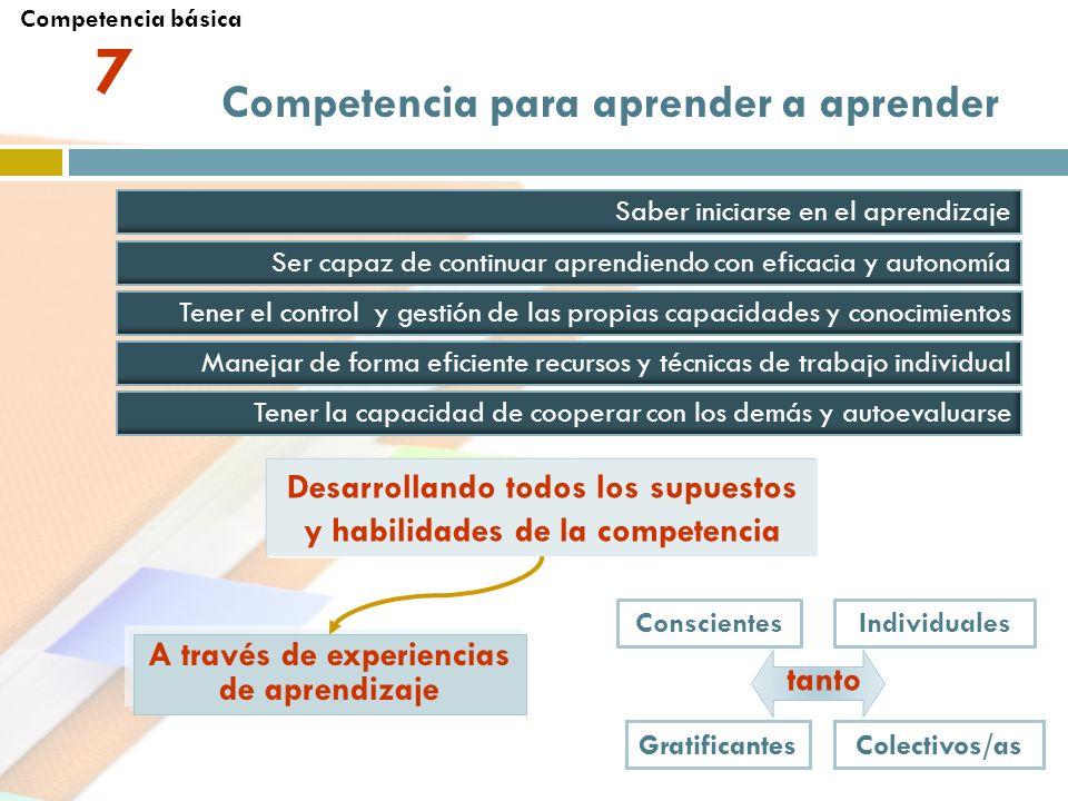 7 Competencia para aprender a aprender