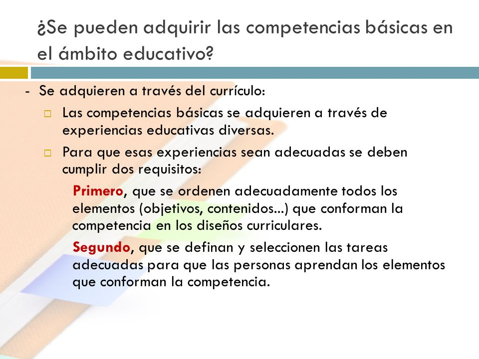¿Se pueden adquirir las competencias básicas en el ámbito educativo