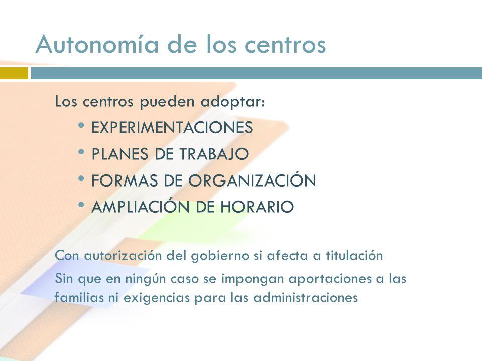 Autonomía de los centros