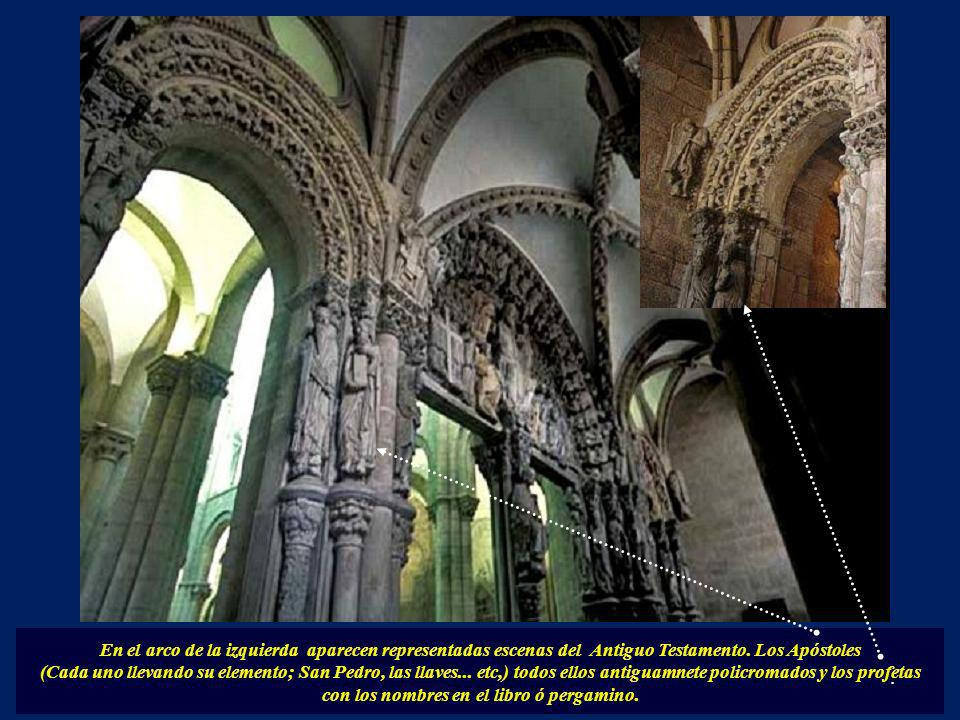 En el arco de la izquierda aparecen representadas escenas del Antiguo Testamento. Los Apóstoles