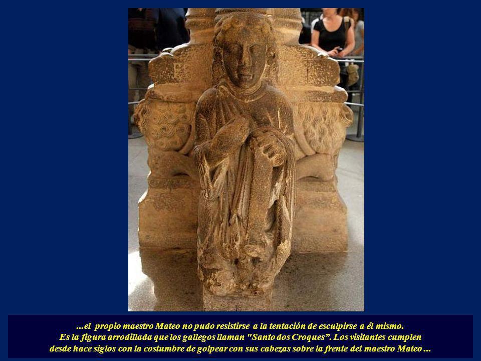 ...el propio maestro Mateo no pudo resistirse a la tentación de esculpirse a él mismo.