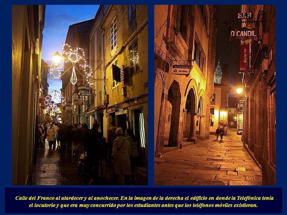 Calle del Franco al atardecer y al anochecer