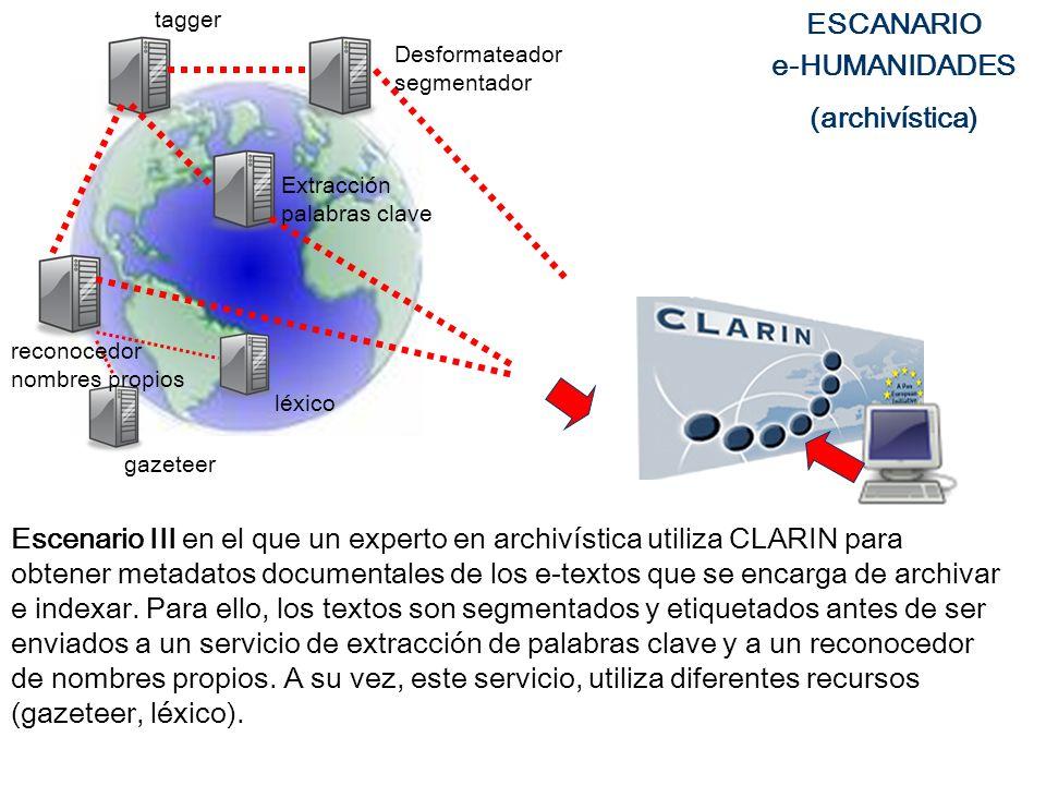 ESCANARIO e-HUMANIDADES (archivística)
