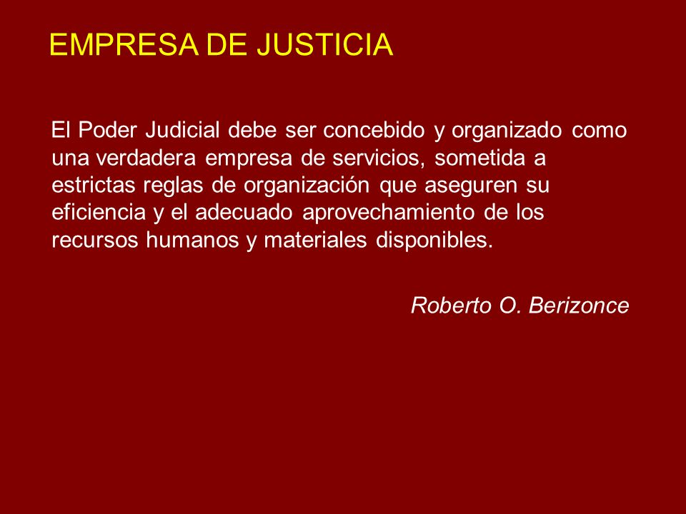 EMPRESA DE JUSTICIA