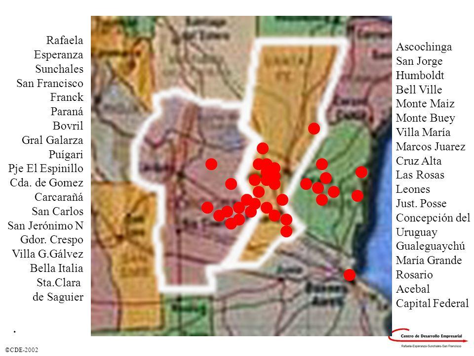 Regionalización Ciudades donde se prestaron Servicios