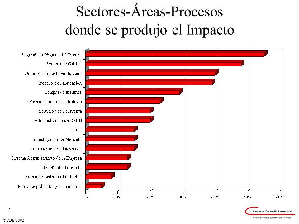 Sectores-Áreas-Procesos donde se produjo el Impacto