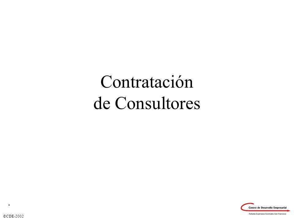 Contratación de Consultores