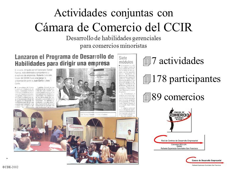 Actividades conjuntas con Cámara de Comercio del CCIR Desarrollo de habilidades gerenciales para comercios minoristas