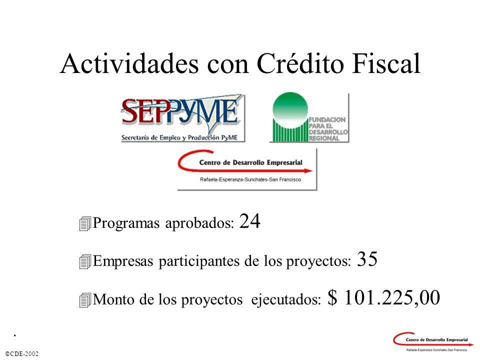 Actividades con Crédito Fiscal