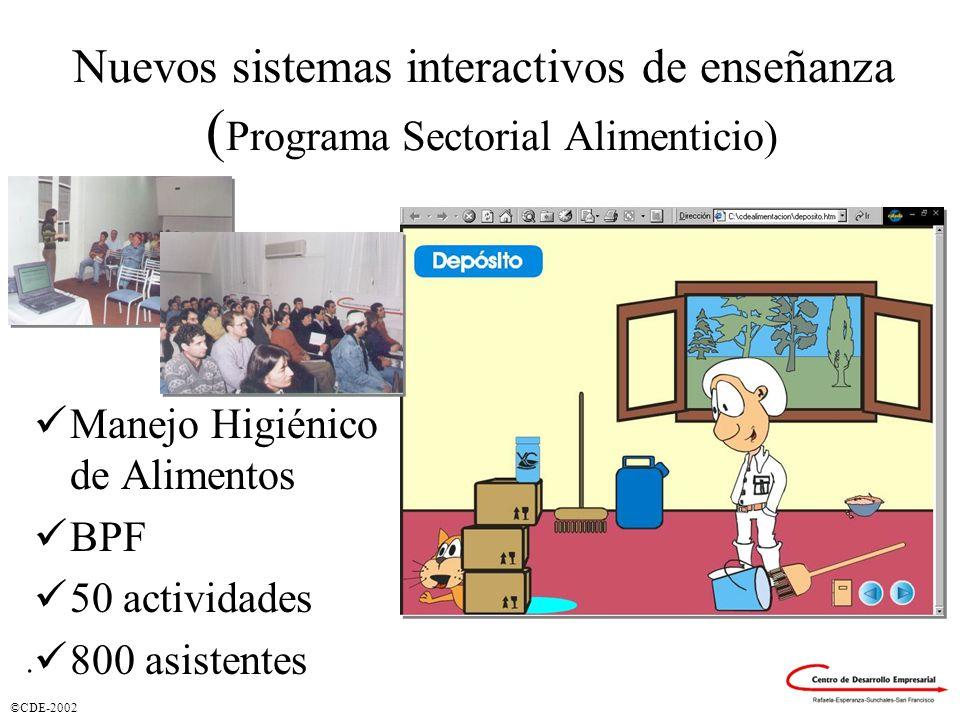 Nuevos sistemas interactivos de enseñanza (Programa Sectorial Alimenticio)