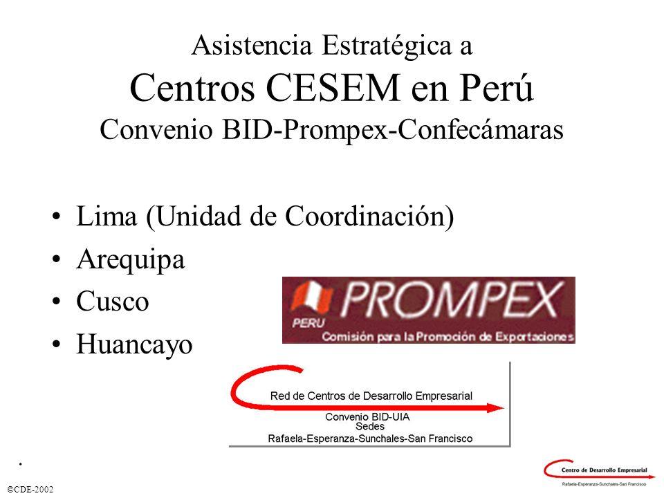 Lima (Unidad de Coordinación) Arequipa Cusco Huancayo