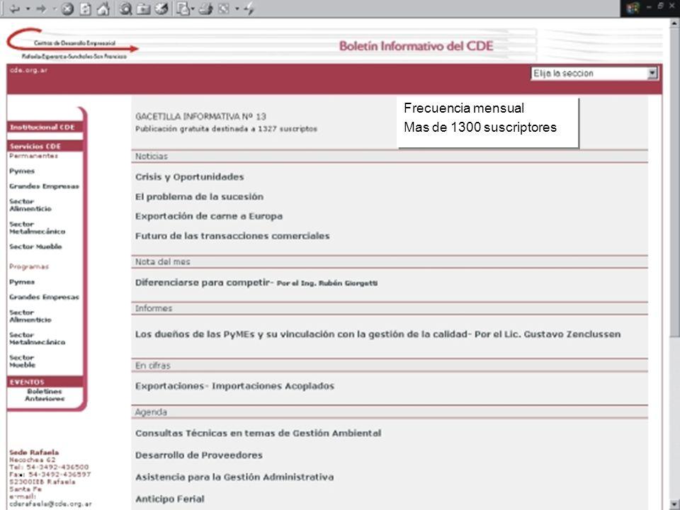 CDE Información Boletín Electrónico Mensual