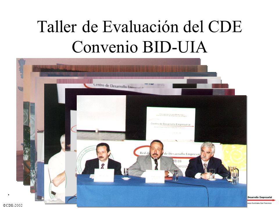 Taller de Evaluación del CDE Convenio BID-UIA
