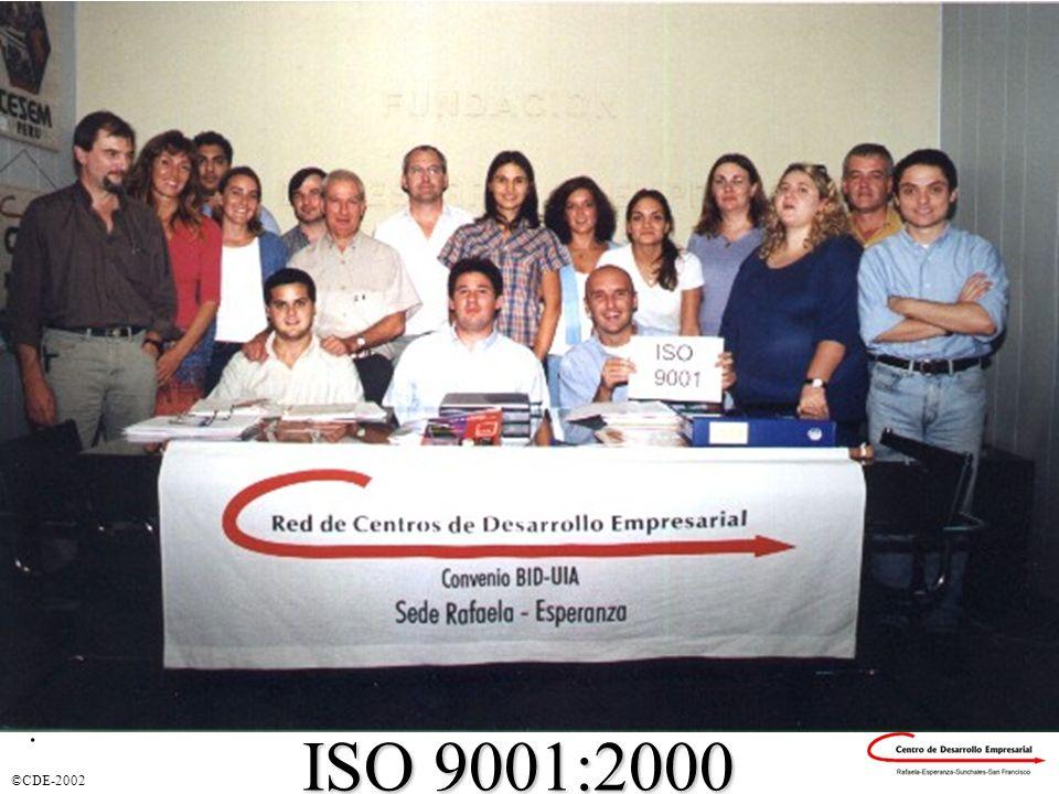 Certificación ISO 9001:2000 . ISO 9001:2000