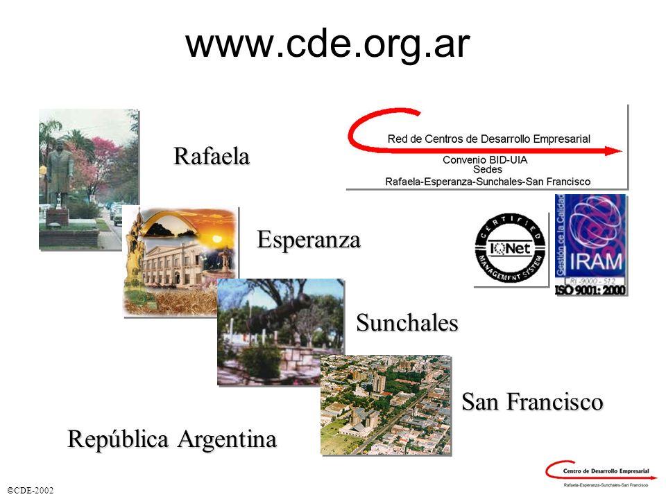www.cde.org.ar Rafaela Esperanza Sunchales San Francisco