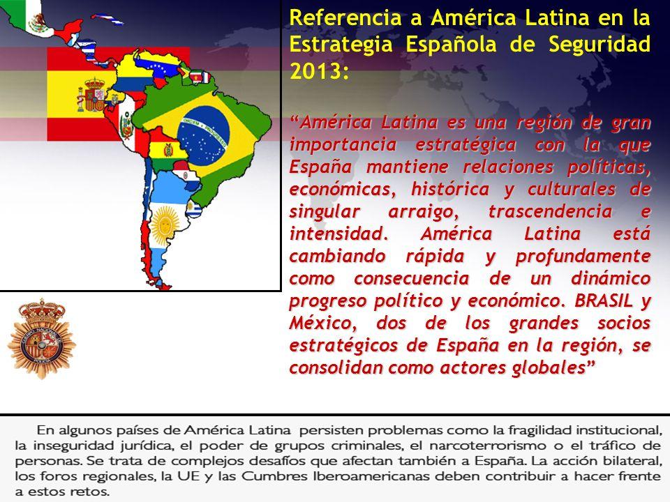 Referencia a América Latina en la Estrategia Española de Seguridad 2013: