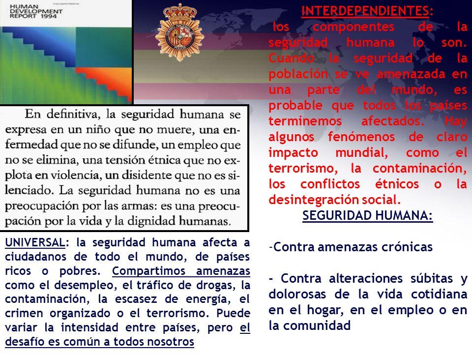 INTERDEPENDIENTES: SEGURIDAD HUMANA: