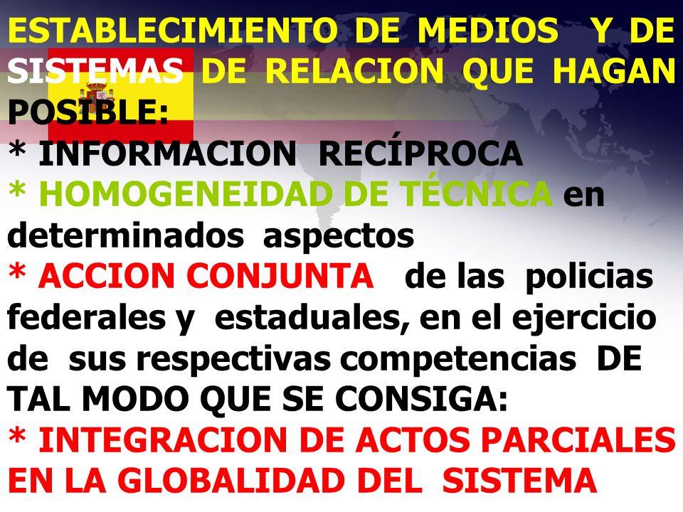ESTABLECIMIENTO DE MEDIOS Y DE SISTEMAS DE RELACION QUE HAGAN POSIBLE: