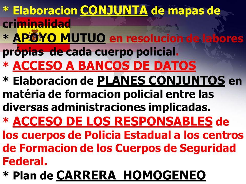 * Elaboracion CONJUNTA de mapas de criminalidad
