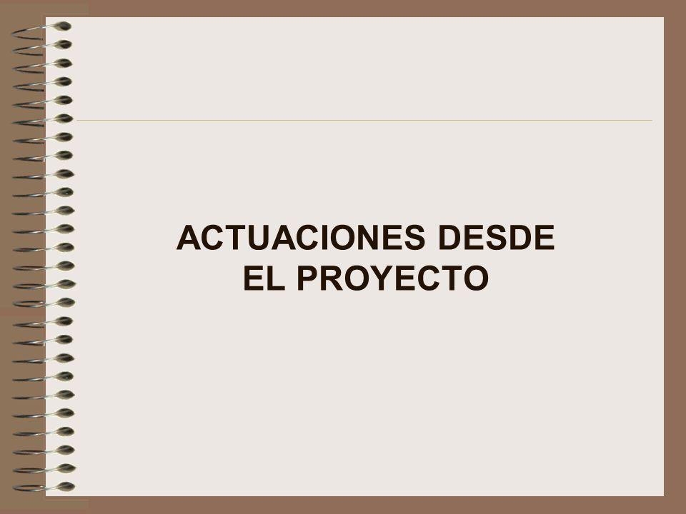 ACTUACIONES DESDE EL PROYECTO