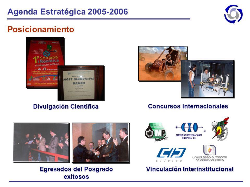 Agenda Estratégica 2005-2006 Posicionamiento Divulgación Científica