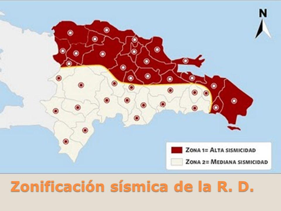 Zonificación sísmica de la R. D.
