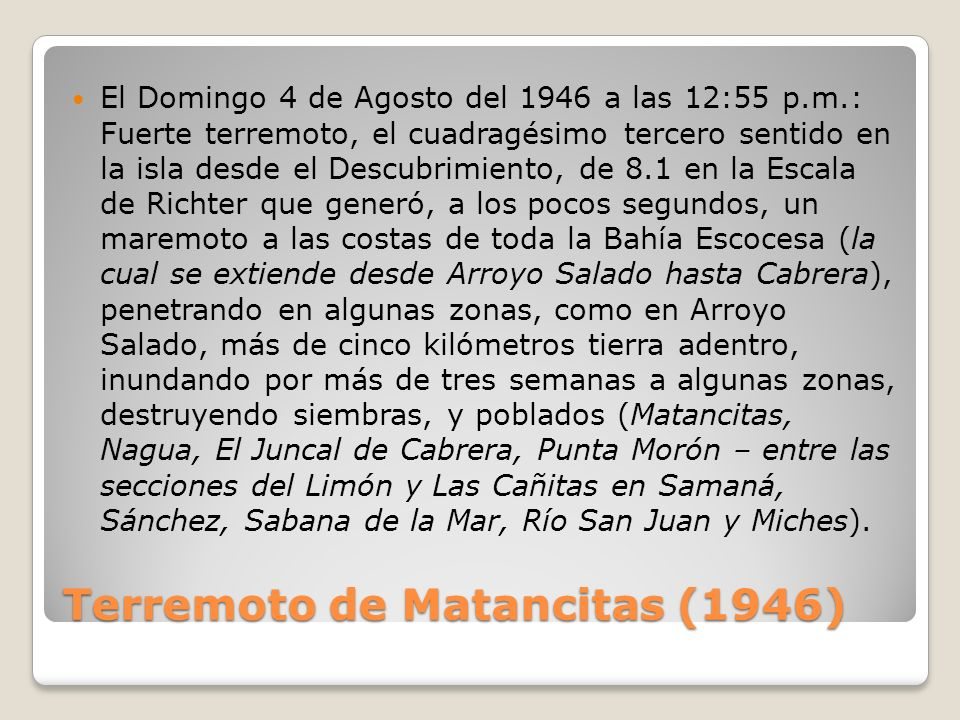 Terremoto de Matancitas (1946)