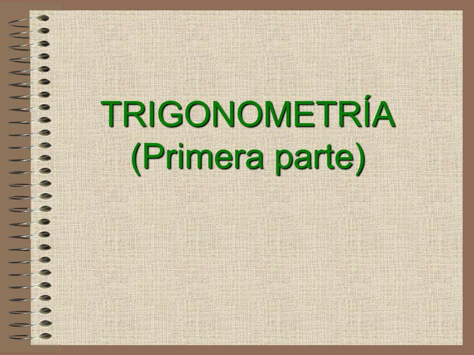 TRIGONOMETRÍA (Primera parte)