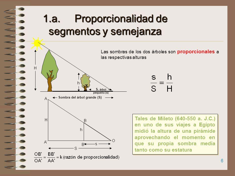 1.a. Proporcionalidad de segmentos y semejanza