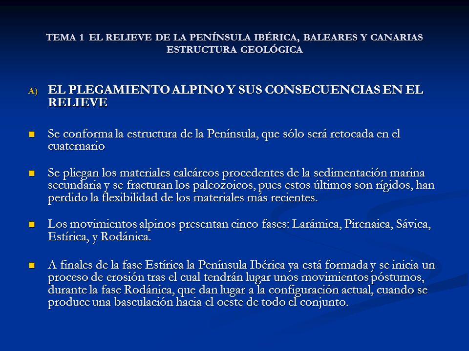 EL PLEGAMIENTO ALPINO Y SUS CONSECUENCIAS EN EL RELIEVE