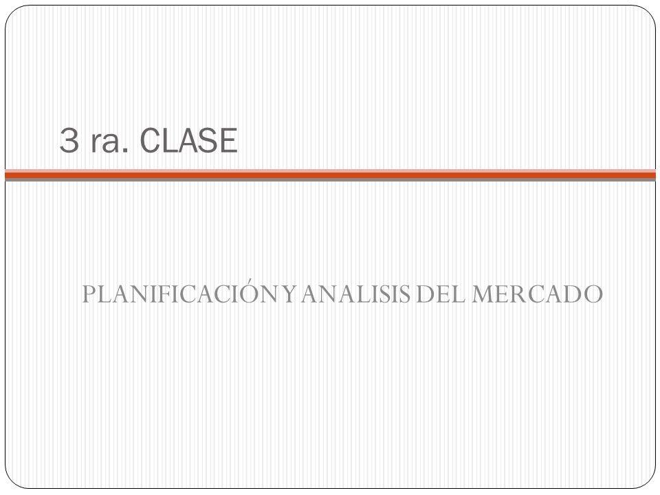 PLANIFICACIÓN Y ANALISIS DEL MERCADO