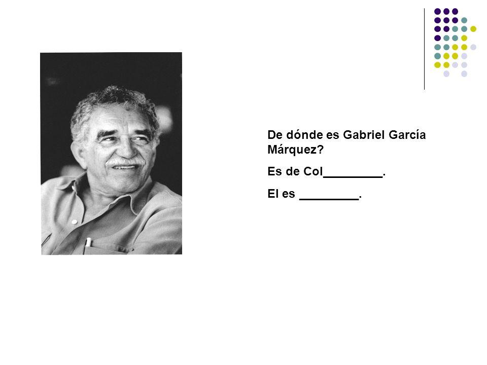 De dónde es Gabriel García Márquez