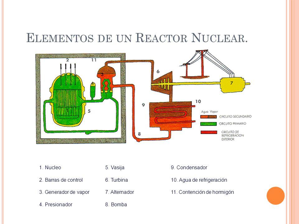 Elementos de un Reactor Nuclear.