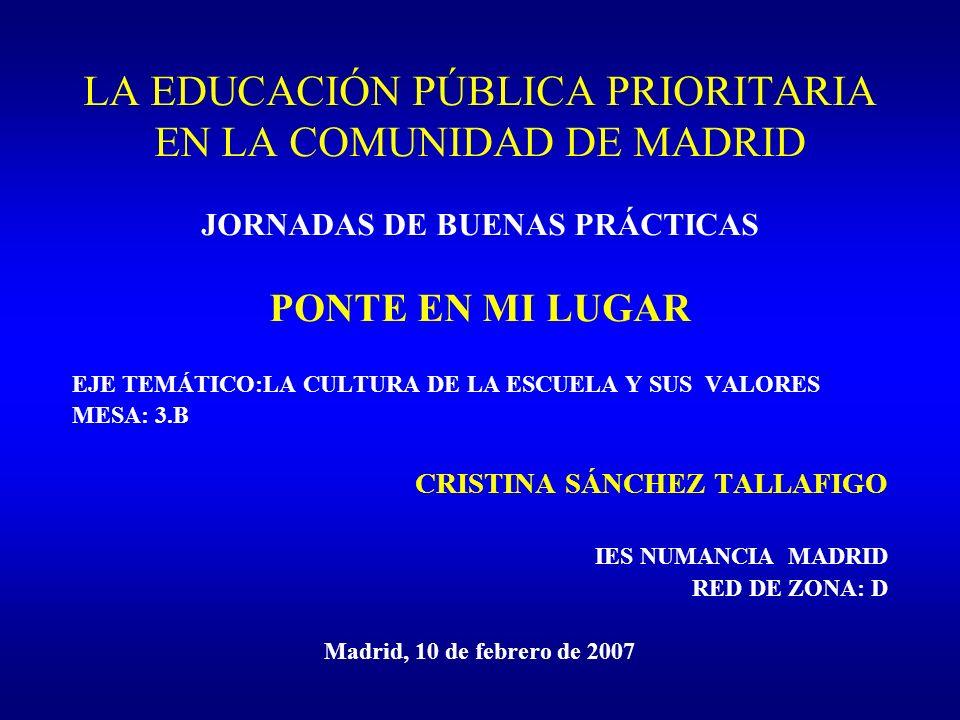 LA EDUCACIÓN PÚBLICA PRIORITARIA EN LA COMUNIDAD DE MADRID
