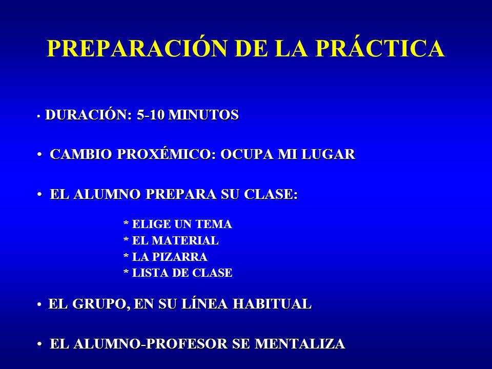 PREPARACIÓN DE LA PRÁCTICA