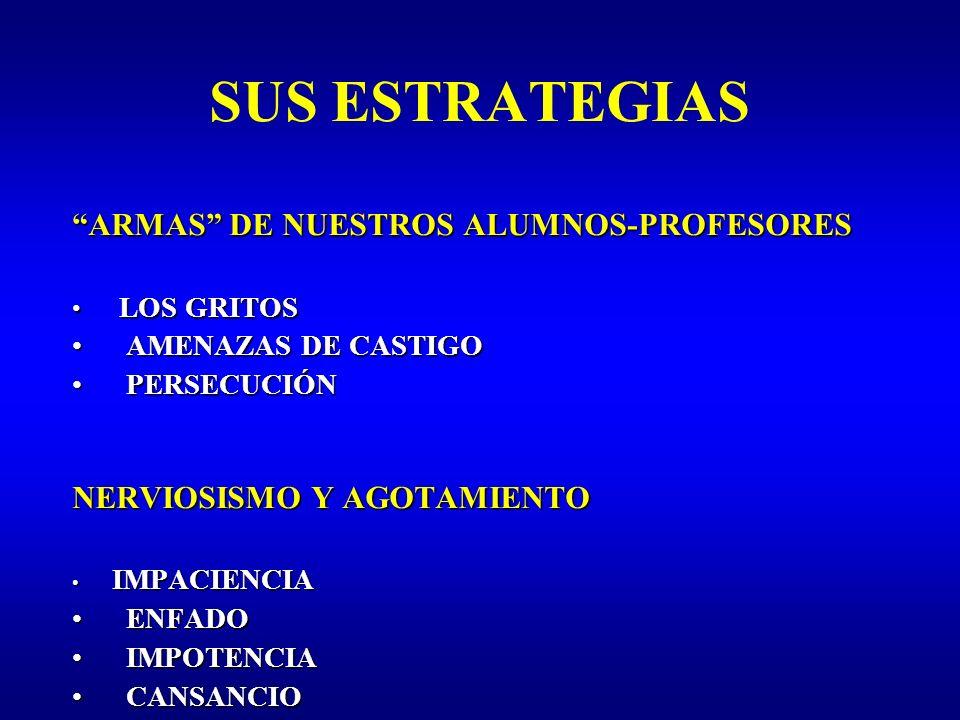 SUS ESTRATEGIAS ARMAS DE NUESTROS ALUMNOS-PROFESORES