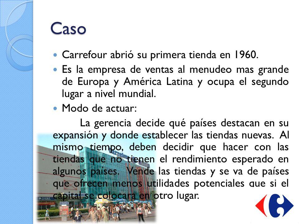 Caso Carrefour abrió su primera tienda en 1960.