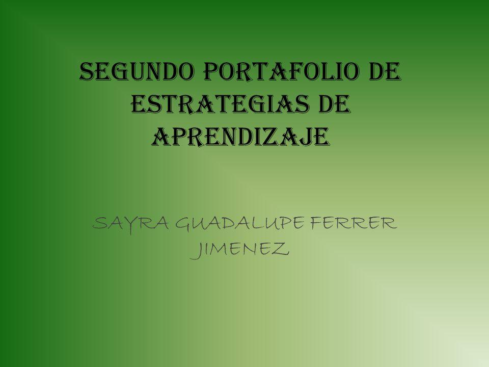 SEGUNDO PORTAFOLIO DE ESTRATEGIAS DE APRENDIZAJE
