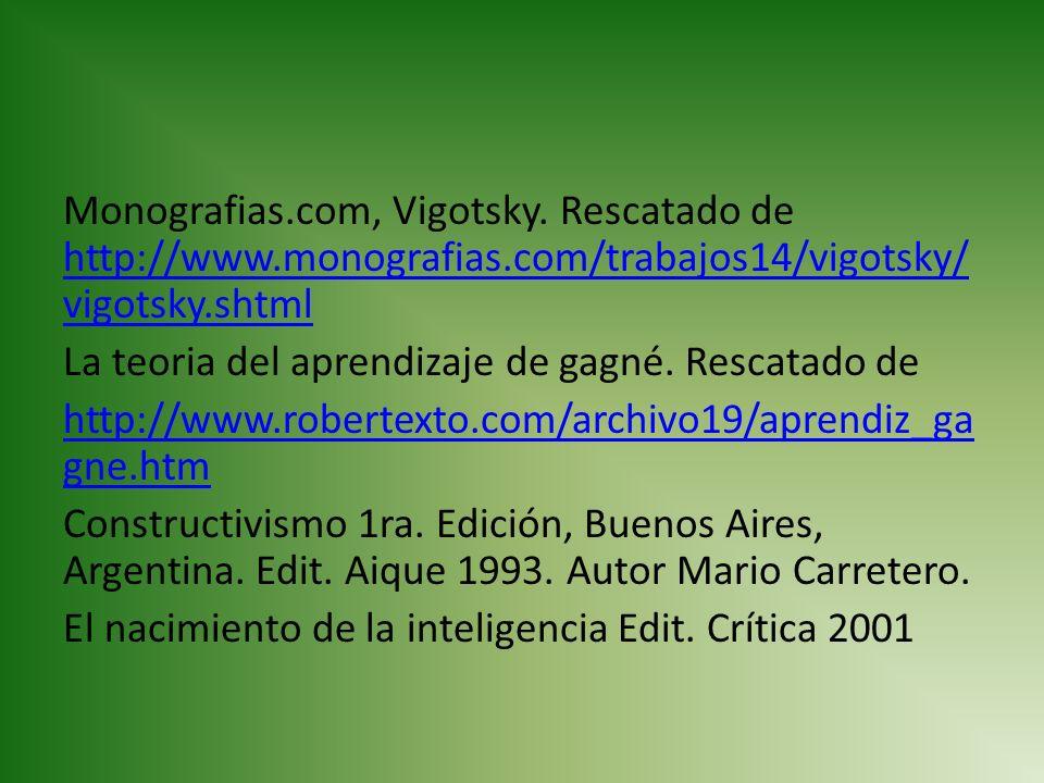 Monografias. com, Vigotsky. Rescatado de http://www. monografias