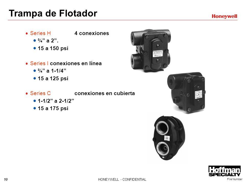 Trampa de Flotador Series H 4 conexiones ¾ a 2 . 15 a 150 psi