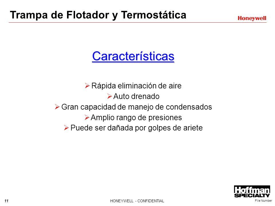 Características Trampa de Flotador y Termostática