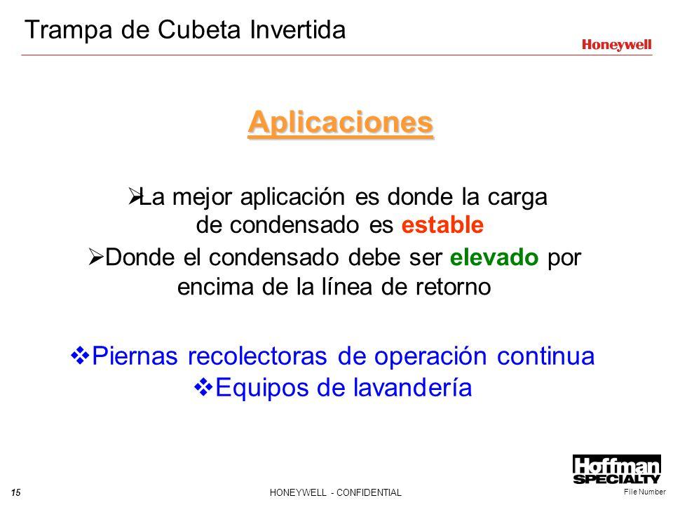 Aplicaciones Trampa de Cubeta Invertida