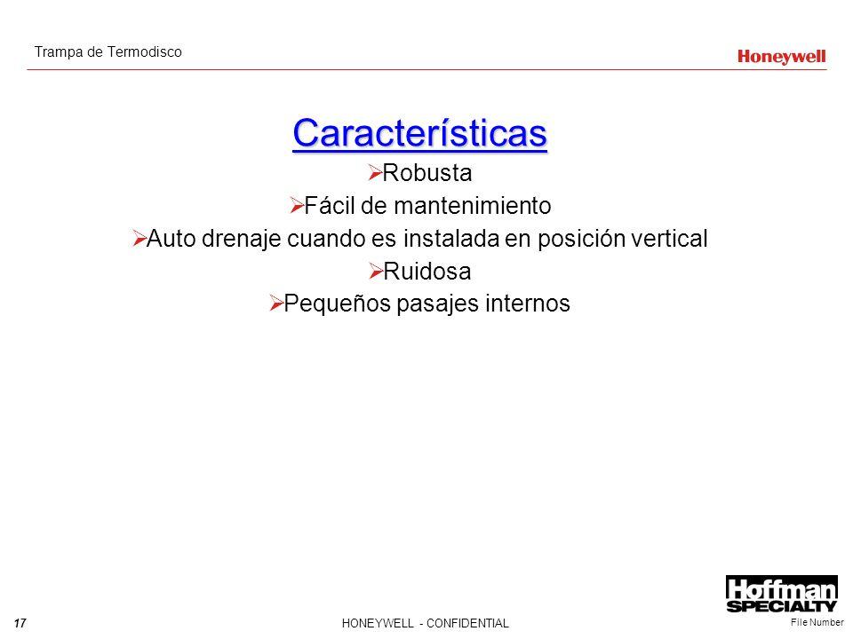 Características Robusta Fácil de mantenimiento