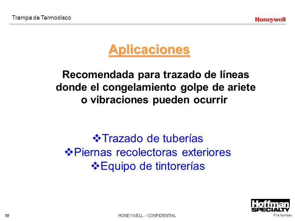 Aplicaciones Trazado de tuberías Piernas recolectoras exteriores