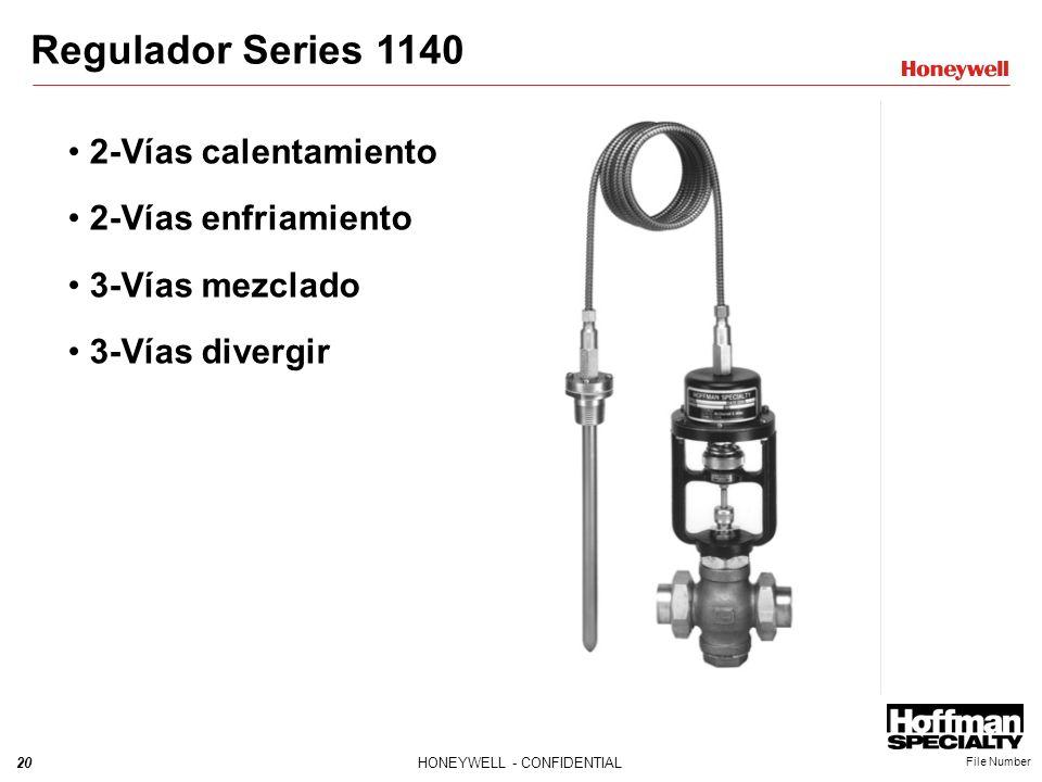 Regulador Series 1140 2-Vías calentamiento 2-Vías enfriamiento
