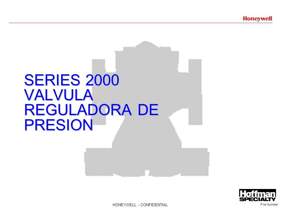 SERIES 2000 VALVULA REGULADORA DE PRESION